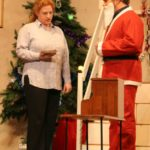 two actors - one playing Father Christmas