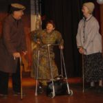 three actors playing elderly people